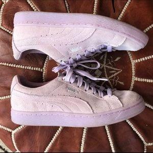 Puma Suede purple shoes